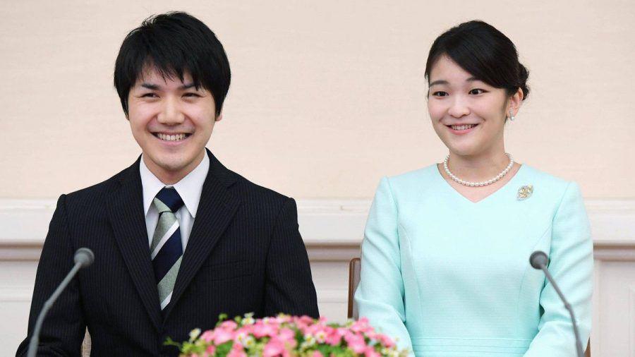 Prinzessin Mako (r.) und Kei Komuro während der Bekanntgabe ihrer Verlobung im Jahr 2017. (ncz/spot)