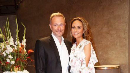 FDP-Chef Christian Lindner und RTL-Reporterin Franca Lehfeldt bei einem gemeinsamen Auftritt. (hub/spot)