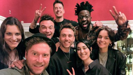 """V.l.: """"Nightwish""""-Frontfrau Floor Jansen, Johannes Oerding , Vincent Stein und Dag-Alexis Kopplin von """"SDP"""", Clueso, Kelvin Jones, ELIF, LOTTE"""